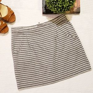 Gap Striped Mini Skirt
